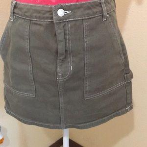 Pacsun🌻Olive Green Mini Skirt